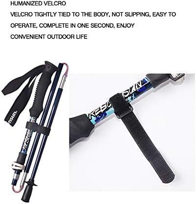 Caminatas Telesc/ópicas En Bicicleta HARBERIDE Bastones Fibra De Carbono Ideales para Caminatas Unisex. A Prueba De Golpes