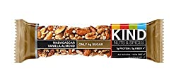 KIND Nuts & Spices, Madagascar Vanilla Almond, 12-Count ,1.4 Ounce Bars