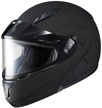 HJC CL-MAX II Solid Modular Snowmobile Helmet Matte Black LG ()