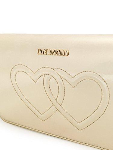 Love Moschino Borsa A Spalla Donna JC4301PP04KL0900 Poliuretano Argento/Oro