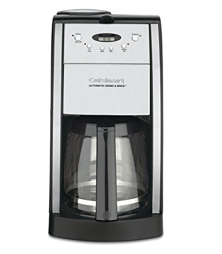 Cuisinart DGB-550BK Grind & Brew Automatic Coffeemaker, 12 Cup, Silver & Black