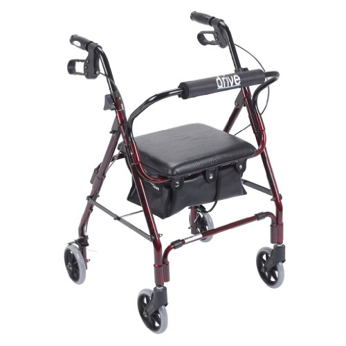 Drive Medical Mimi Lite Deluxe Aluminum Rollator, Flame Red by Drive Medical
