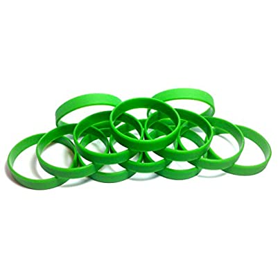 TheAwristocrat Dozen Multi-Pack BLANK Wristbands Bracelets Silicone Rubber Select from Variety Colors Estimated Price £7.74 - £8.88 - £11.99