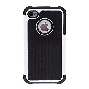 tubanliudongdong2-in-1 Design Little Hexagon Pattern Hard Case with Silicone Soft Inside Cover for iPhone 4/4S (Assorted Colors) , Purple