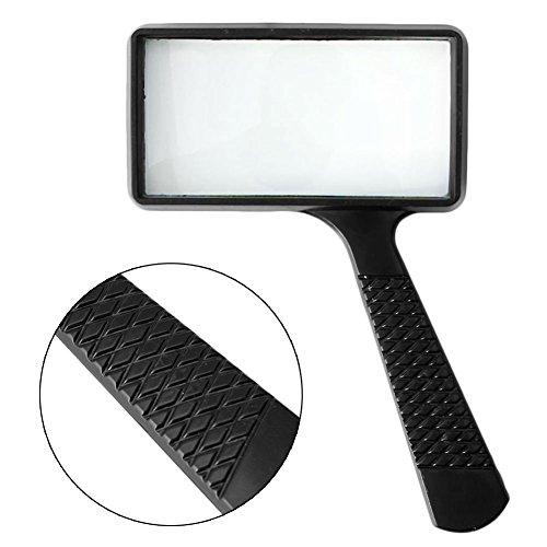 Rectangular Magnifying Glass (BushYou Portable Handheld Rectangular 5X Magnifier Magnifying Glass Loupe For Reading Jewelry)
