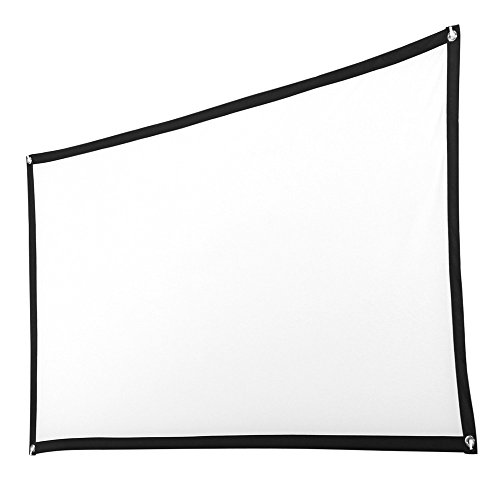 YLCOYO 72 Inch HD Projector Screen 16:9 Home Cinema Theater Projection Portable Screen