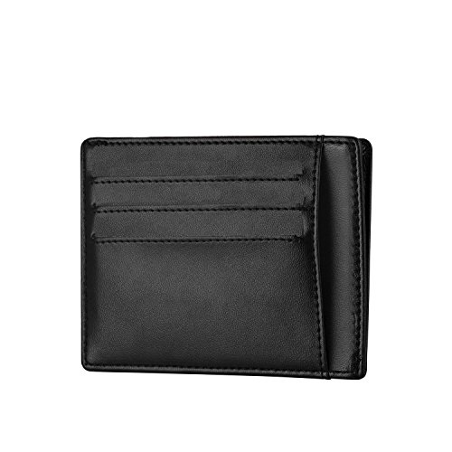 P.KU.VDSL Wallets, RFID Blocking Wallet, Slim Genuine Leather Wallet, Minimalist Front Pocket Wallets Perfect For Men or Women, Business Card Case Sec…