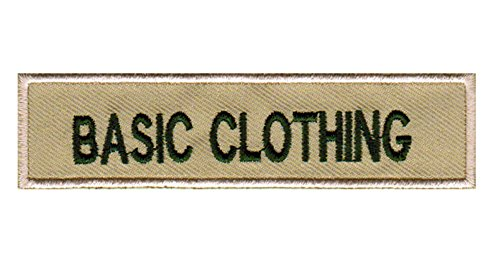 Basics Custom Embroidered Scouts Nametag Identification Badge Tag (Khaki/Olive Green) (Embroidery Sash)