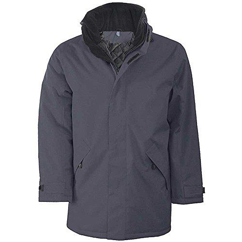 Grey Hood With Unisex Collar Contained Kariban Convoy Parka Jacket xq84xwgYO