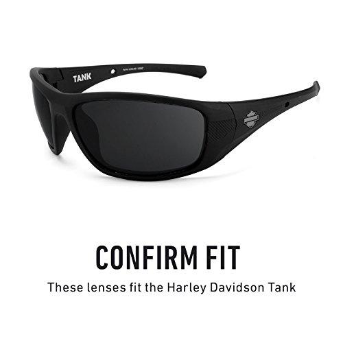 Verres de rechange pour Harley Davidson Tank — Plusieurs options Titanium MirrorShield® - Polarisés
