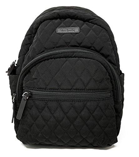 (Vera Bradley Leigh Small Quilted Backpack (Classic Black))