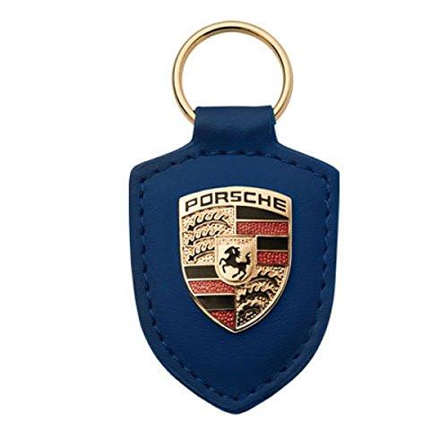 porsche-crest-blue-leather-keyfob