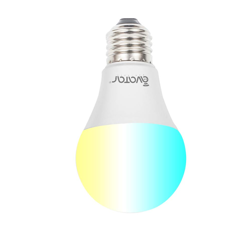 WiFi Smart LED Bulb, Avatar Controls RGBW Color Changing Home Light, UL Listed 6.5W E26 Dimmable Light Bulb, Compatible with Google Home/Alexa, Supports APP Remote Control ON/Off/Color Switch