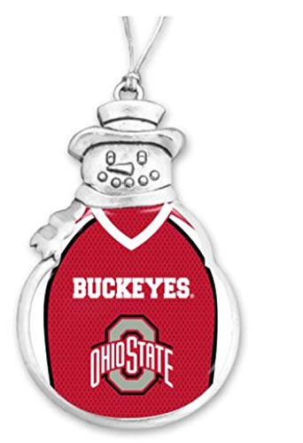 - FTH 60630 Ohio State University Buckeyes Football Jersey Snowman Christmas Ornament