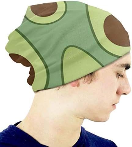 Boys' Novelty Hat Green Avocados Pattern Beanie Girl Warm Skull Knit Hat Unisex Slouchy Soft Kid Cap