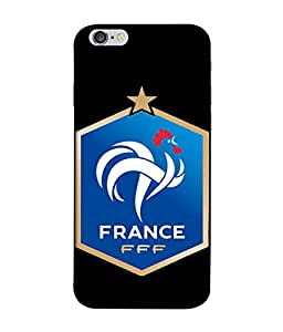 ColorKing Football France 15 Black shell case cover for Apple iphone 6 / 6s