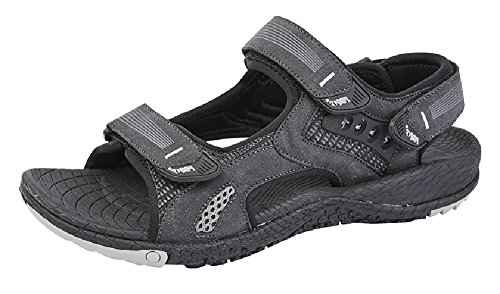 PDQ Rodjer Super Light Triple Touch Fastening Sports Trekking Sandals Black Synth.nubuck CGsMwnmjA