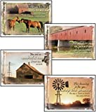 Country Blessings- Scripture Greeting Cards - KJV - Boxed - Birthday