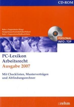 Pc Lexikon Arbeitsrecht Ausgabe 2007 1 Cd Rommit Checklisten