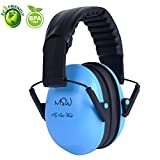 Ear Defender Ear Muffs Adjustable Noise Cancelling Headphones 22dB for Sleeping Studying Construction Shooting Hunting Drilling Sawing Welding Racing, Blue