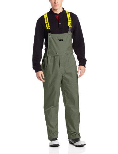 Heavy Duty Bibs (Viking Journeyman Waterproof Industrial Bib Pant, Dark Green, X-Large)