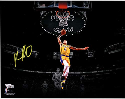 Los Photograph Autographed Lakers Angeles - Kyle Kuzma Los Angeles Lakers Autographed 11