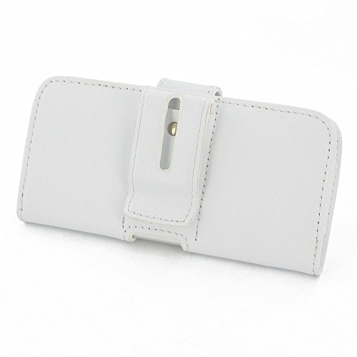 """Apple iPhone 6 (4.7"""") Leather Case / Cover Protective Carrying Phone Case / Cover (Handmade Genuine Leather) - Horizontal Pouch Case (White) by Pdair"""
