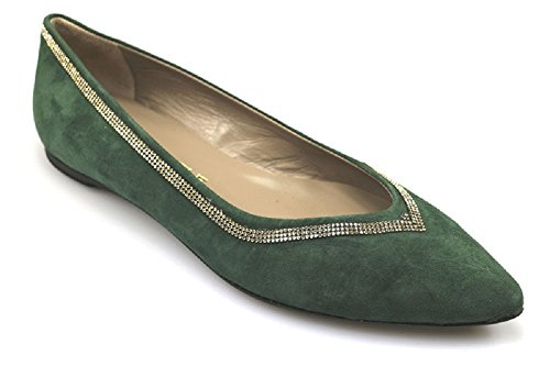 Chaussures Femme EDDY DANIELE 37 ballerines vert daim strass as103