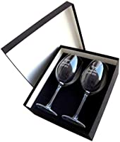 Arte-Deco Copas de Vino grabadas y Personalizadas con el Texto o dedicatoria Que Usted desee, presentadas en Estuche para Regalo.: Amazon.es: Hogar