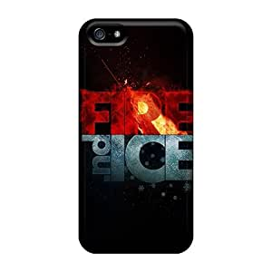 Cute Appearance Cover/tpu NkWimje7050gyxLR Fire And Ice Case For Iphone 5/5s