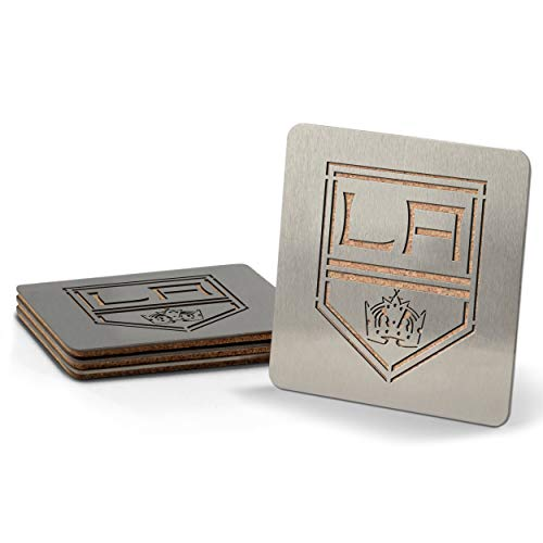 NHL Los Angeles Kings Boaster Stainless Steel Coaster Set of 4 ()
