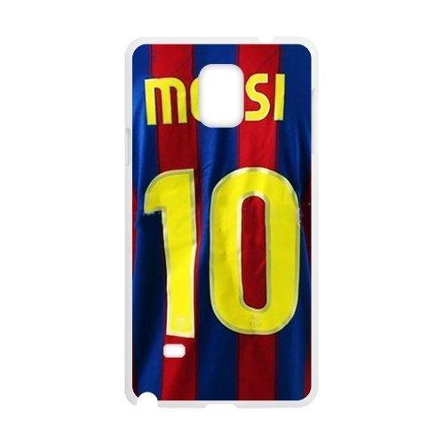 DIY Barcelona Soccer Futsal FC Messi Custom Case Shell Cover for Samsung Galaxy Note4 Case (Laser Technology)