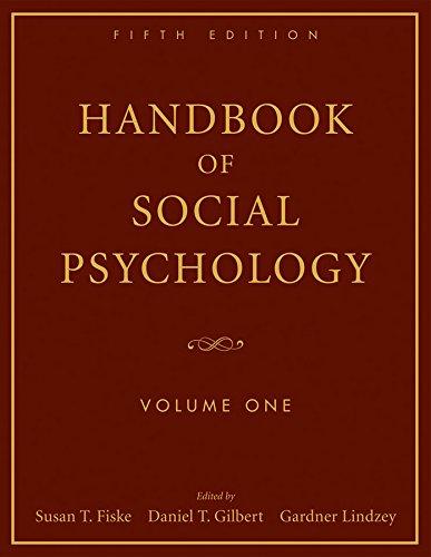 Handbook of Social Psychology:  Volume One