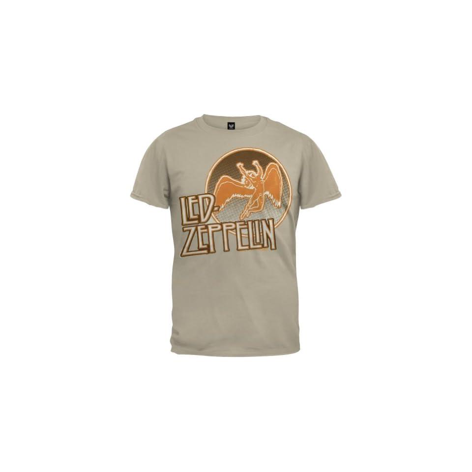 Led Zeppelin   Circle 77 Flocked T Shirt   X Large