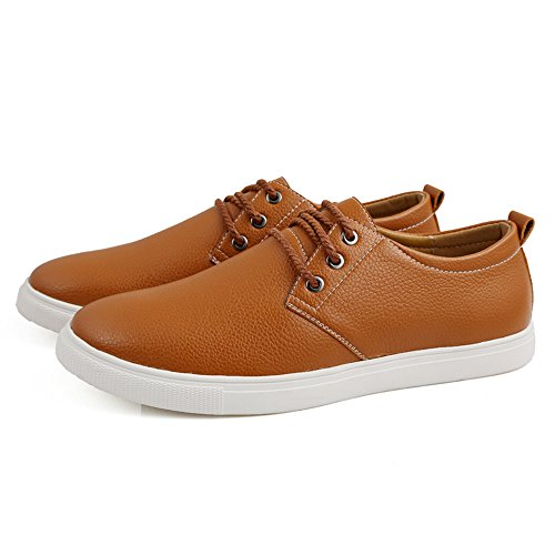 Comodidad Durable Amarillo Plano Hombre formales Ligero Encajes zapatos Ocio Suave de CUSTOME cuero Zapatos Moda Los fzZ0xfwY