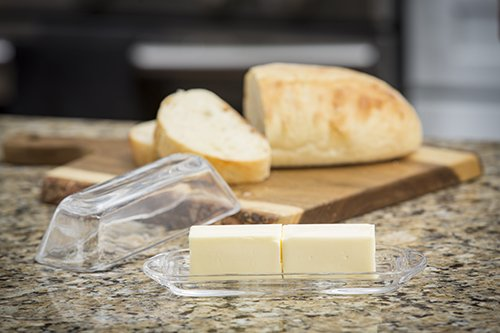 TableCraft H124M Single-Stick Glass Butter Dish