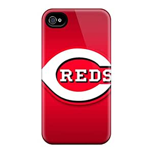 Protective Hard Phone Cover For Iphone 6 With Allow Personal Design HD Cincinnati Reds Image TimeaJoyce