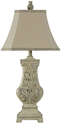 Lamp Acanthus (Acanthus Grotto Weathered Cream Sculpted Table Lamp)
