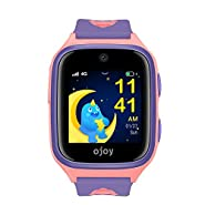 OJOY A1 Kids Smart Watch   Waterproof Smart Watch for Kids   4G LTE Watches for Boys and Girls   Safety Gizmo Watch for Kids   Kids GPS Tracker   with iOS & Android App (Purple/Pink) - US Warranty