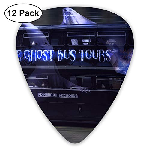 Cool Halloween Ghost Tour Bus Guitar Pick 0.46mm 0.73mm 0.96mm 12pack,Suitable for All Kinds of Guitars ()