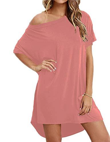 Women Loose T Shirts Home Short Shirt Mini Dresses Tops