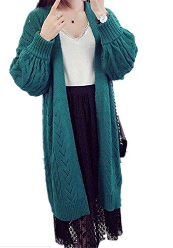 STRDK レディース カーディガン ニット 長袖 可愛い 柔らかい コート ジャケット 個性 縦ストライプ ゆったり カーディガン アウター 秋 ロングカーディガン ジャケット風 丈長め エレガント 秋 冬 ニット きれいめ カジュアル