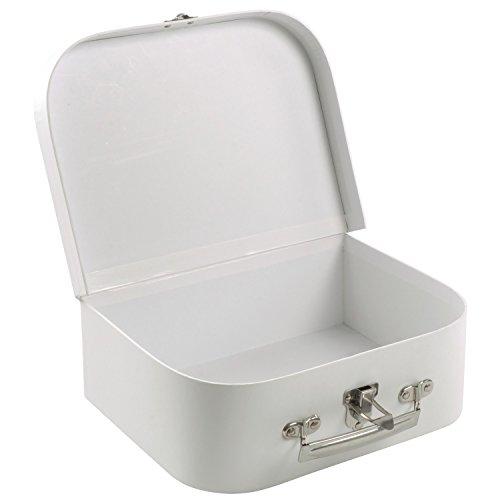 Eduplay Kinderkoffer zum Selbstgestalten, 24,5x18,5x8,5cm, Karton, weiß, blanko (1 Stück)