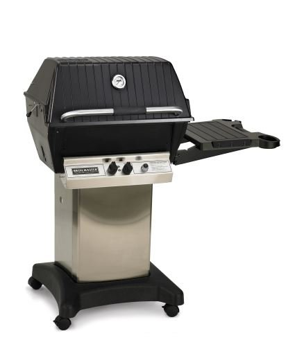 Premium Gas Grill Package 5 with Stainless Cart/Base and Side Shelf