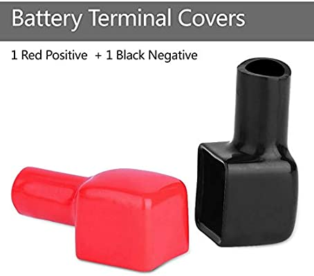 1 Pair Car Air Battery Terminal Covers Accessories Positive And Negative Black