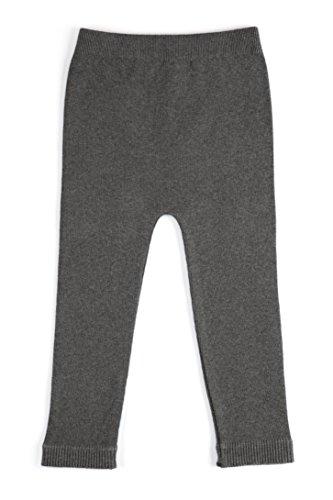 EMEM Apparel Unisex Boys Girls Baby Infant Medium Weight Seamless Cotton Full Ankle Length Leggings Dark Heather Grey 12-18 - Uk Designer Sale Online