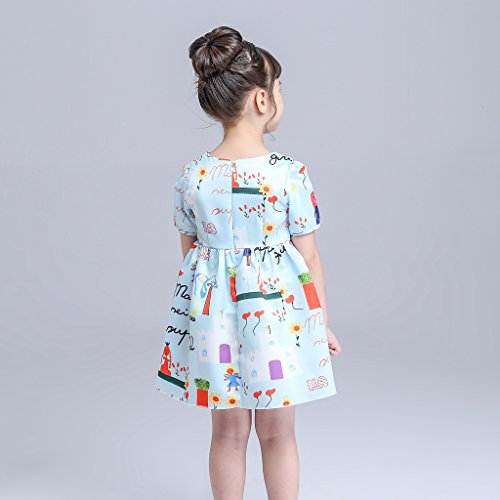 Toddler Sunny Fashion Girls Green playwear Mamma Party Sundress Dresses 2/8T by LUCKFACE (Image #2)
