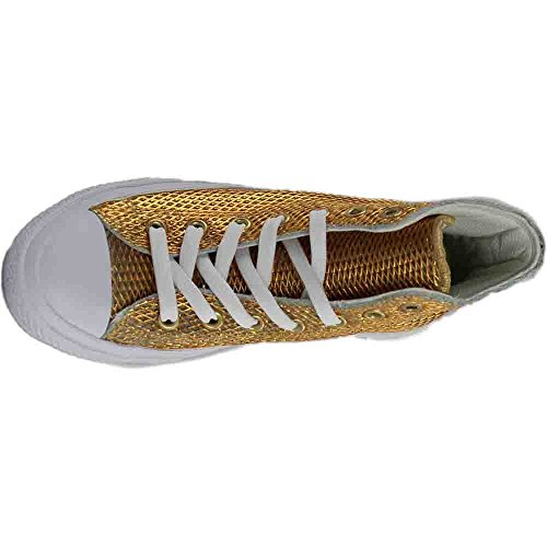 white Top Perforated Metallic Ii Gold High Converse white Chuck qgRZ4wxT