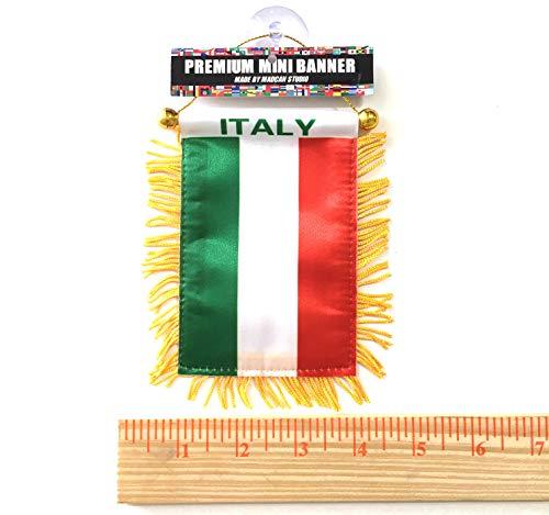 (IT Designs NYC Small Italian mini ITALY car flag auto suv vans trucks automobile window flags)