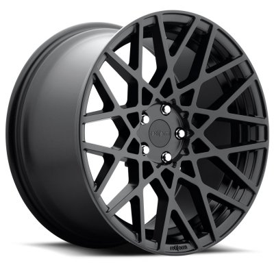Rotiform Wheels R112 BLQ BD -Black Matte 19x8.5 5x112 45 offset 66.5 hub